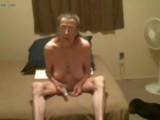 Old Granny with Vibrator, Free Mature Porn bc