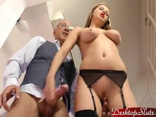 Candy Alexa Sucks and Fucks some old guy