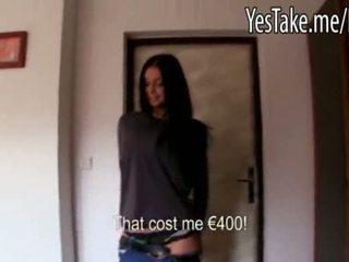 巨乳 業餘 長 haired 捷克語 女孩 vikky pumped 為 金錢