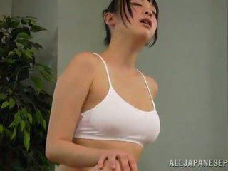 Bal reiko kobayaka was için sexcited için petting