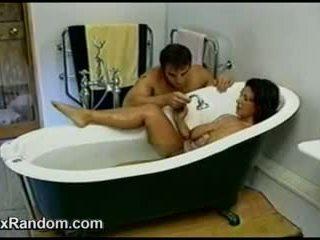 Horny MILF In The Bathtub
