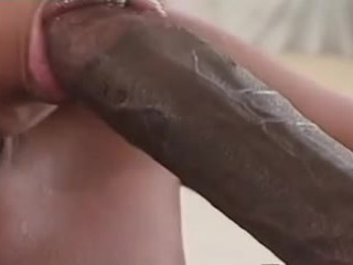 Beautiful black woman get's the big black dick
