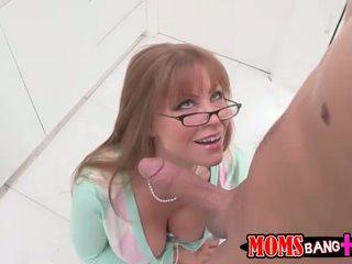 Mature stepmom seduces boy into anal sex