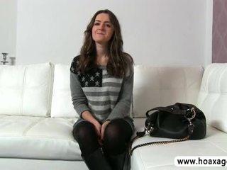 Lovely euro babe Kendra fucked and jizze during her audition