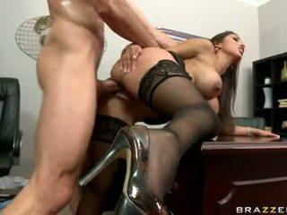 payudara besar, kantor, sex kantor